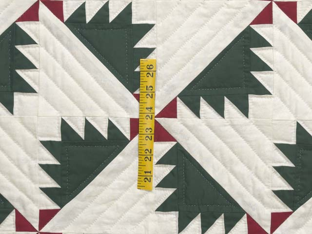 Green Red and Cream Sisterhood Quilt Photo 5