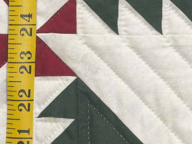 Green Red and Cream Sisterhood Quilt Photo 6