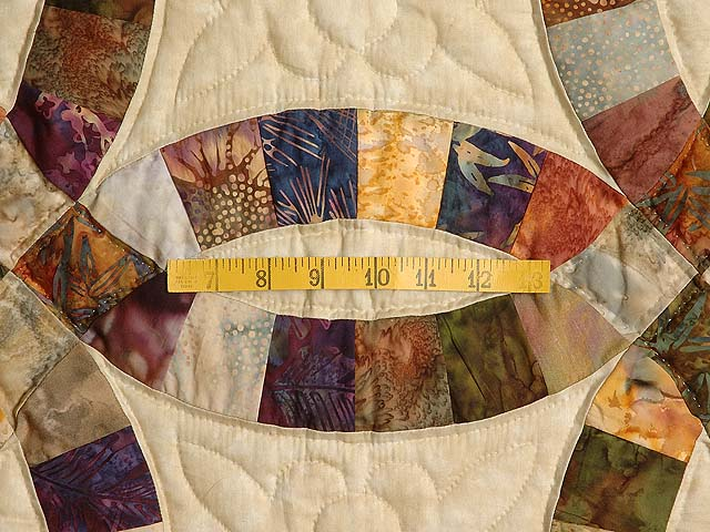 Hand Painted Double Wedding Ring Quilt Photo 5