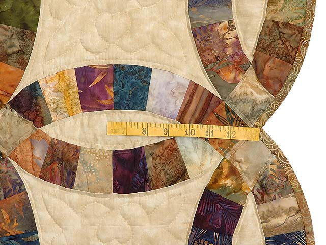 Hand Painted Double Wedding Ring Quilt Photo 7