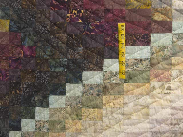 Plum Teal Dark Green and Gold Lightning Strikes Quilt Photo 4