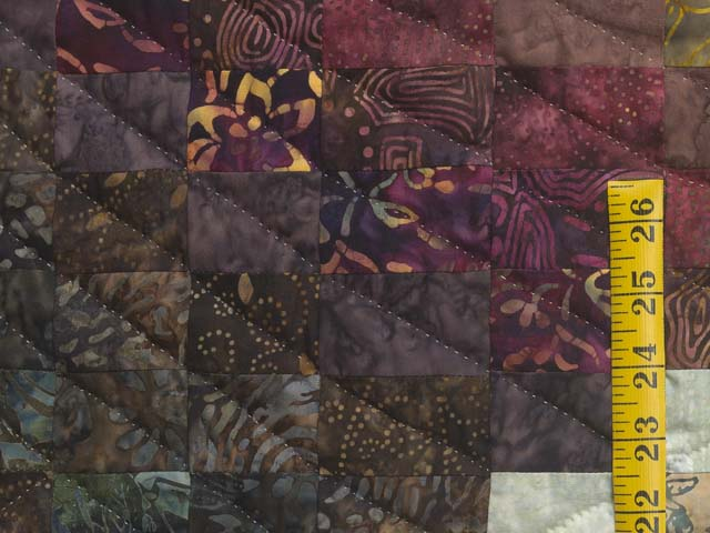 Plum Teal Dark Green and Gold Lightning Strikes Quilt Photo 5