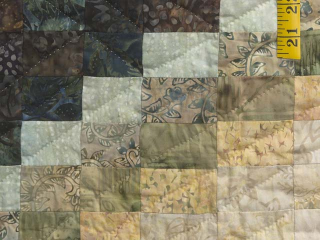 Plum Teal Dark Green and Gold Lightning Strikes Quilt Photo 6