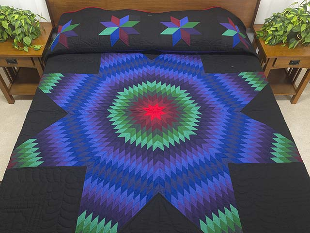 King Amish Extra Fine Lone Star Quilt Photo 1