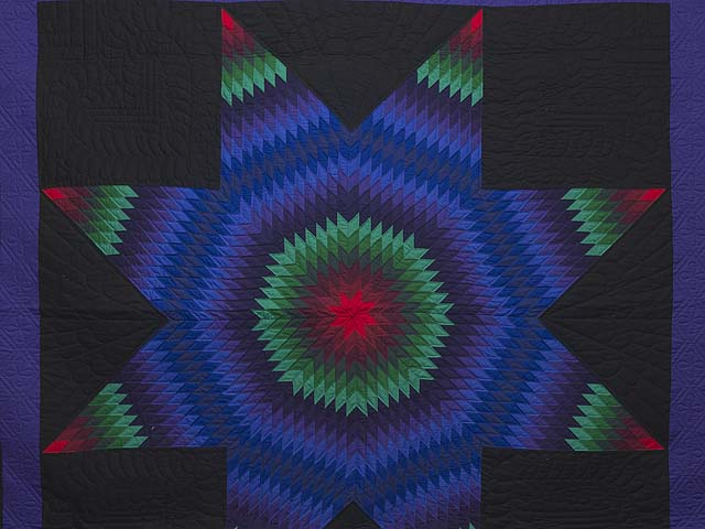 King Amish Extra Fine Lone Star Quilt Photo 3