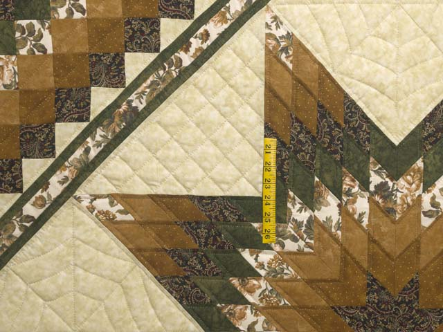Golden Brown Tan and Green Lone Star Trip Quilt Photo 4