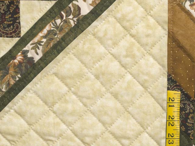 Golden Brown Tan and Green Lone Star Trip Quilt Photo 5