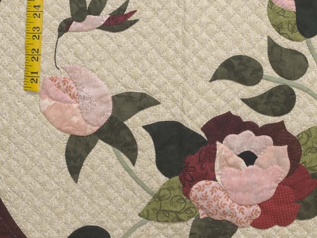 Burgundy Golden Tan and Multicolor I Promised You a Rose Garden Quilt Photo 6