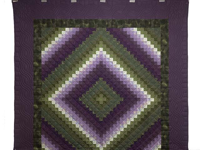 Purple and Green Trip Around the World Quilt Photo 2