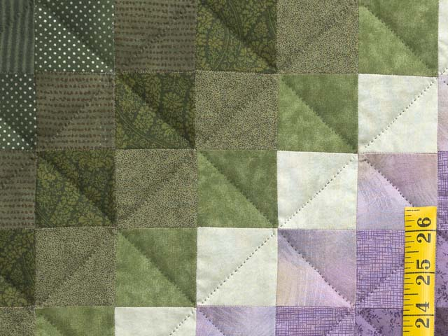 Purple and Green Trip Around the World Quilt Photo 5