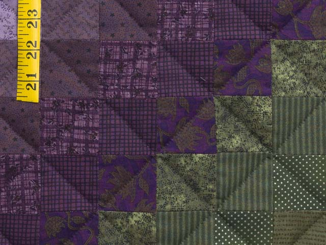 Purple and Green Trip Around the World Quilt Photo 6