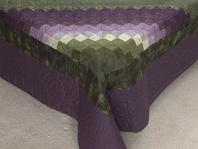 Purple and Green Trip Around the World Quilt Photo 7