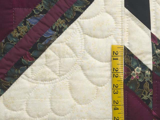 Burgundy Black and Gold Lone Star Log Cabin Quilt Photo 6