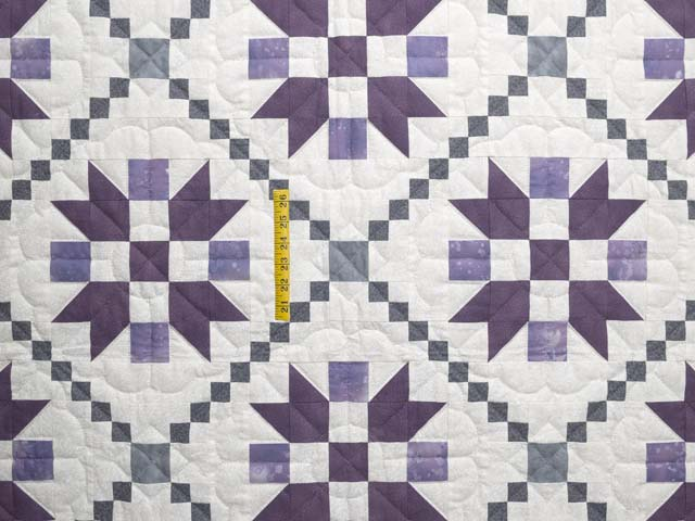 Lavender and Sage Green Folk Art Village Quilt Photo 4