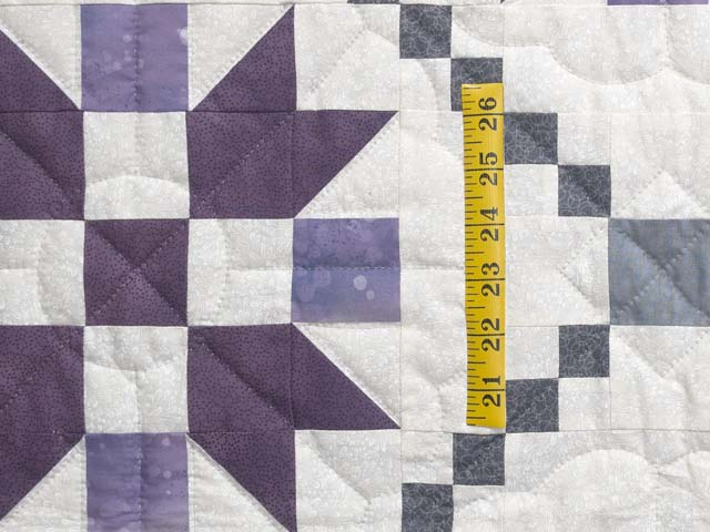 Lavender and Sage Green Folk Art Village Quilt Photo 5