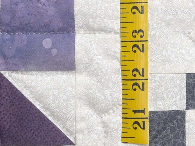 Lavender and Sage Green Folk Art Village Quilt Photo 6