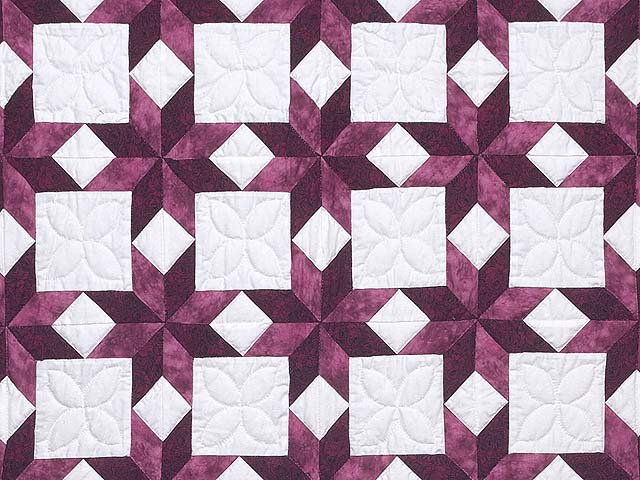 Twin Rose and Cream Little Stars Quilt Photo 3