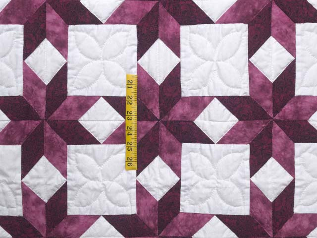Twin Rose and Cream Little Stars Quilt Photo 4