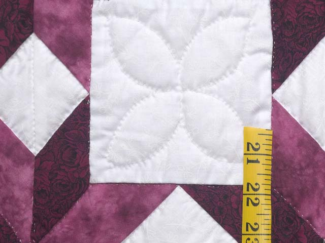 Twin Rose and Cream Little Stars Quilt Photo 5