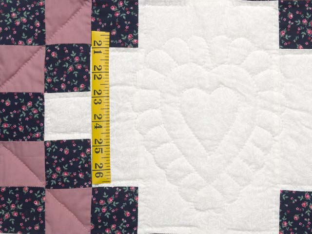 Twin Rose Black and Cream Irish Chain Quilt Photo 5
