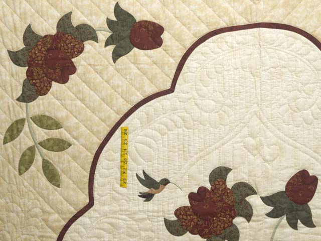 Brick Red Gold and Sage Green Lancaster Treasures Quilt Photo 4