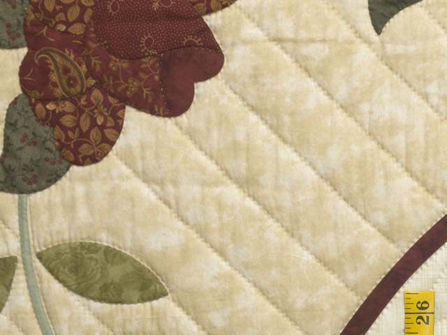 Brick Red Gold and Sage Green Lancaster Treasures Quilt Photo 6