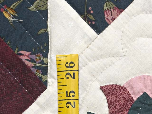 Dark Green Burgundy and Tan Tulip Medley Quilt Photo 6