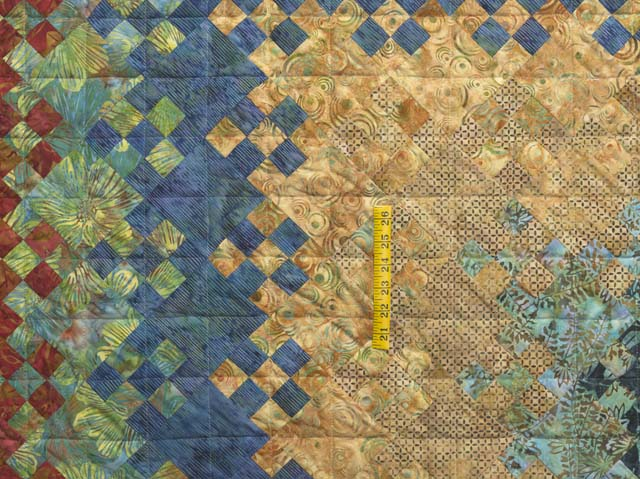 King Golden Multicolor Blooming Nine Patch Quilt Photo 4