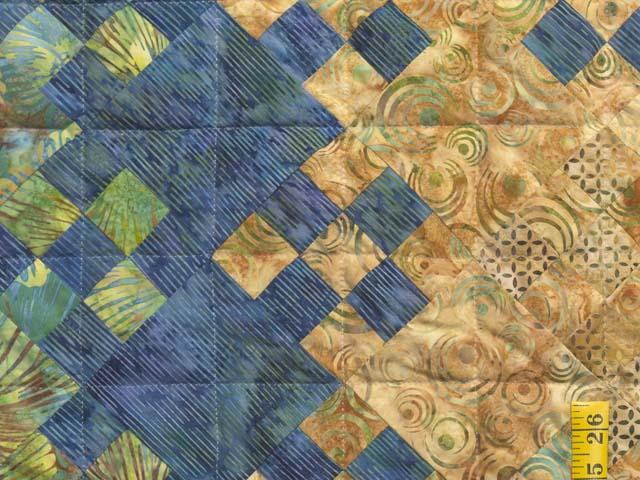 King Golden Multicolor Blooming Nine Patch Quilt Photo 5