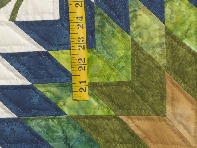 King Gold Blue and Green Starburst Quilt Photo 6