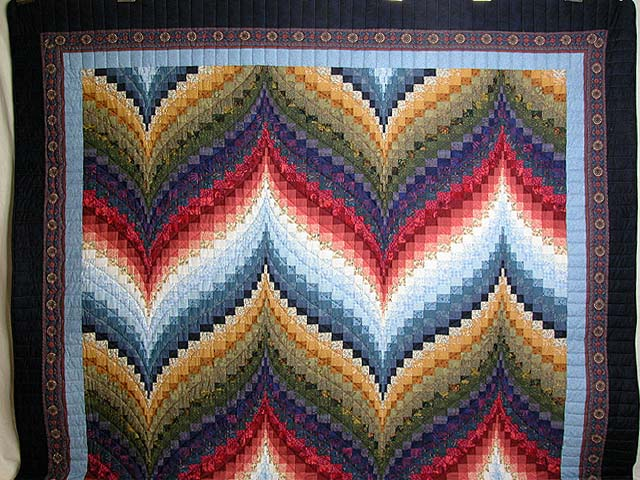 Color Wheel Bargello Quilt Photo 2