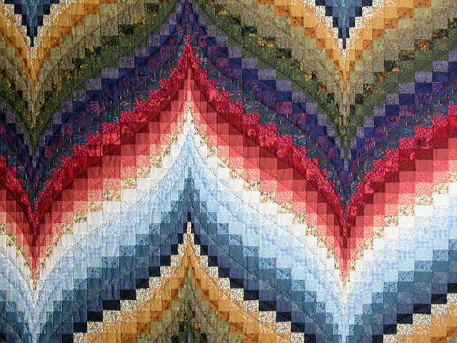 Color Wheel Bargello Quilt Photo 3
