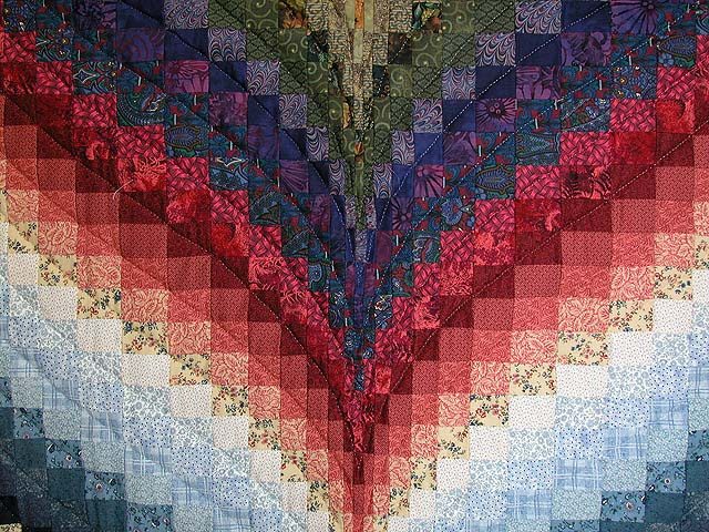 Color Wheel Bargello Quilt Photo 5
