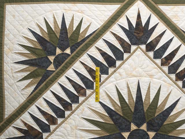 Navy Moss and Gold Compass Reflections Quilt Photo 4