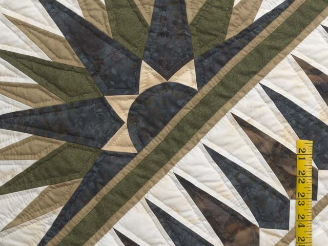 Navy Moss and Gold Compass Reflections Quilt Photo 5
