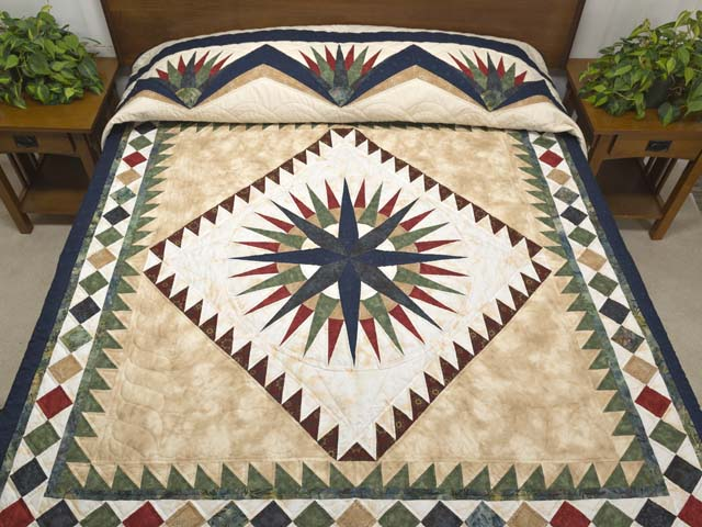 King Country Colors Mariner S Compass Quilt