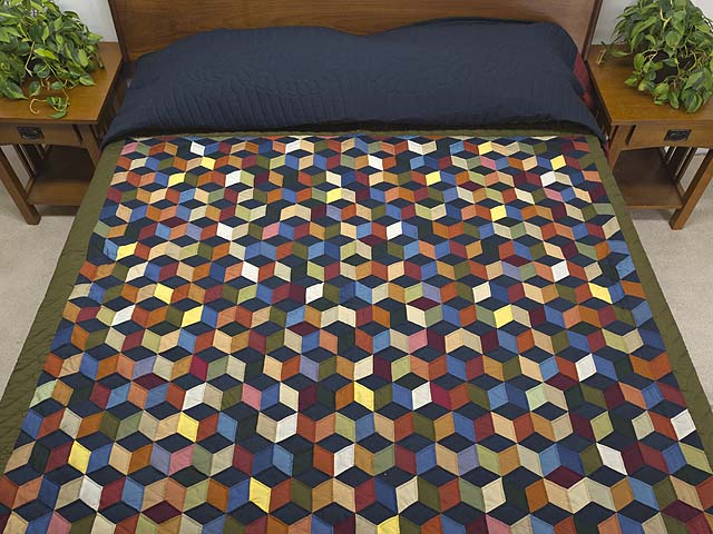 Almost Amish Tumbling Blocks Quilt Photo 1