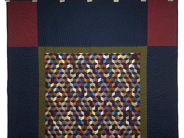 Almost Amish Tumbling Blocks Quilt Photo 2