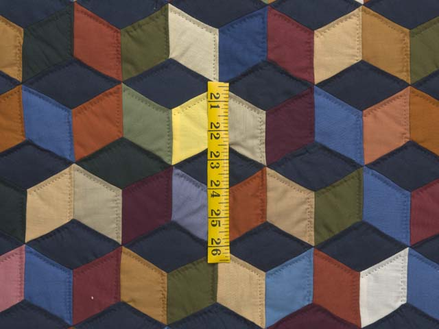 Almost Amish Tumbling Blocks Quilt Photo 4