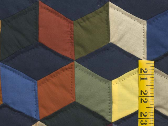 Almost Amish Tumbling Blocks Quilt Photo 5