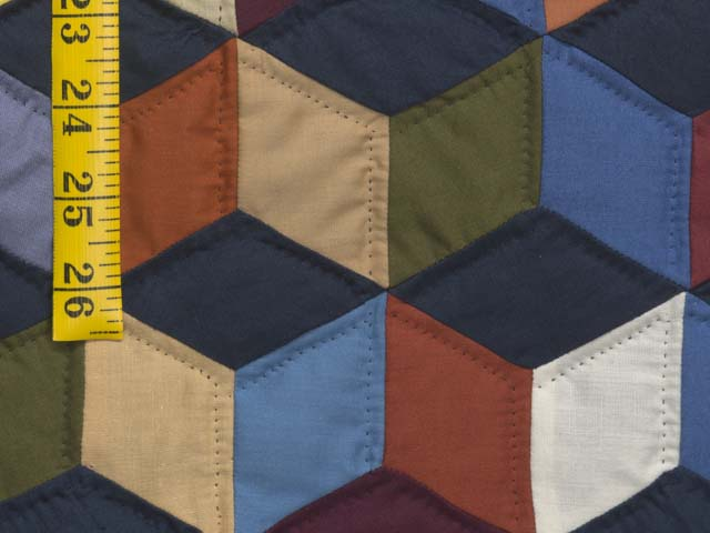 Almost Amish Tumbling Blocks Quilt Photo 6