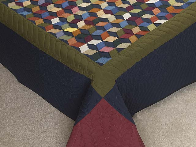Almost Amish Tumbling Blocks Quilt Photo 7