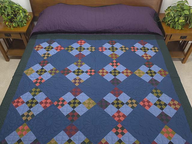 Amish Double Nine Patch Quilt Photo 1
