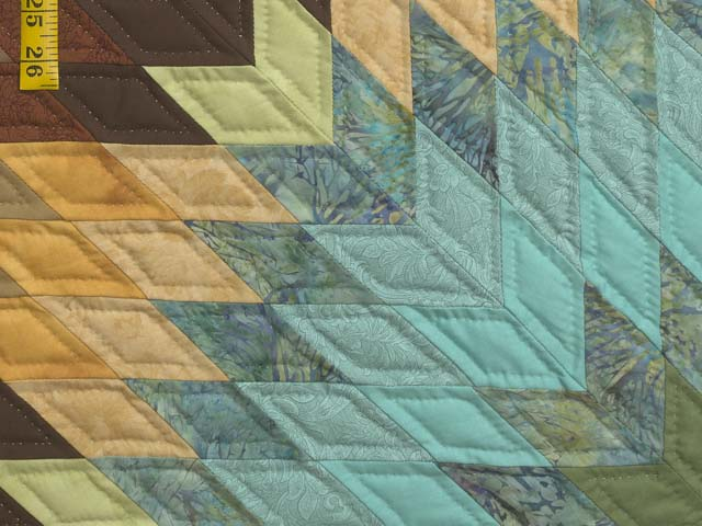 Golden Tan Aqua and Multicolor Radiant Star Quilt Photo 5