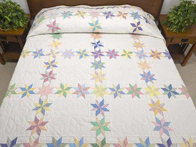 Pastel Starry Path Quilt Photo 1