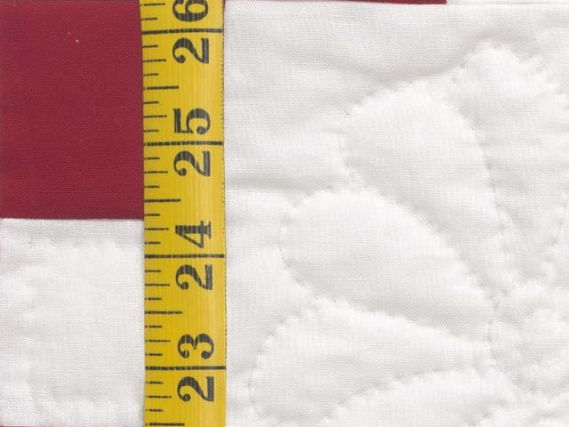 Red and White Nine Patch Quilt Photo 6