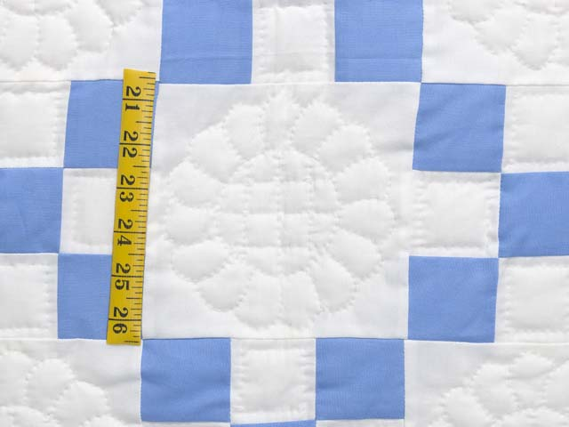 Blue and Cream Nine Patch Quilt Photo 5