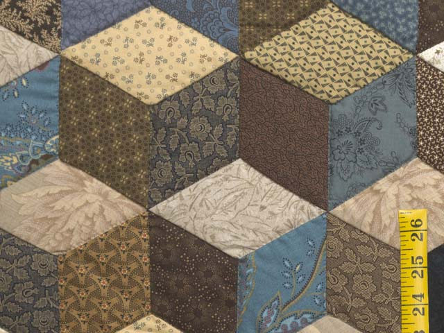 Civil War Colors Tumbling Blocks Quilt Photo 5