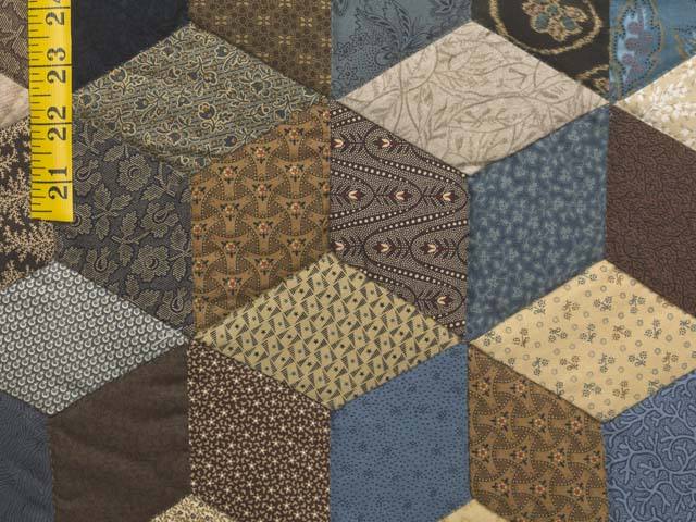 Civil War Colors Tumbling Blocks Quilt Photo 6