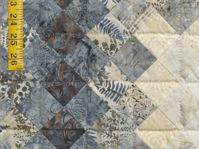 Blue Navy and Cream Boston Commons Quilt Photo 5